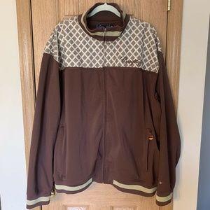 COOGI Rare Full Zip Jacket Embroidered Argyle 3XL
